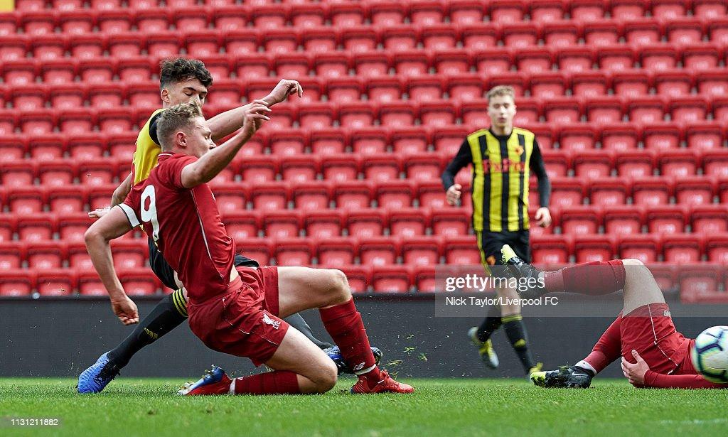 GBR: Liverpool v Watford: FA Youth Cup Semi-Final
