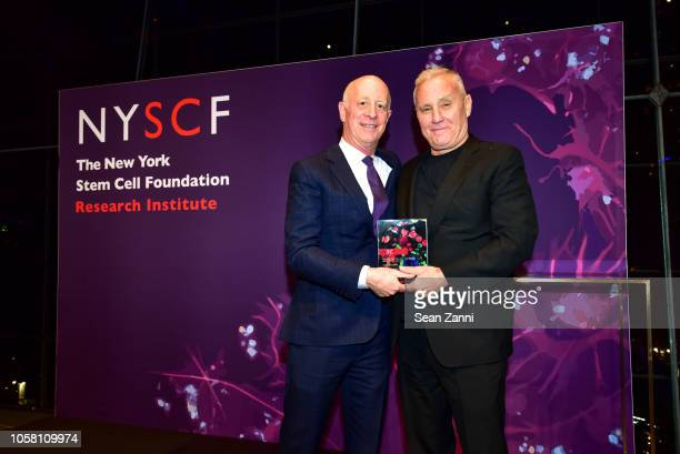 Paul Goldberger and Ian Schrager attend The NYSCF Gala And Science Fair at Jazz at Lincoln Center on October 16 2018 in New York City