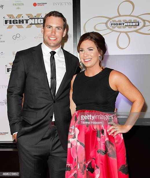 Paul Goldschmidt and Amy Goldschmidt attend Muhammad Ali's 'Celebrity Fight Night' at JW Marriott Desert Ridge Resort Spa on March 28 2015 in Phoenix...