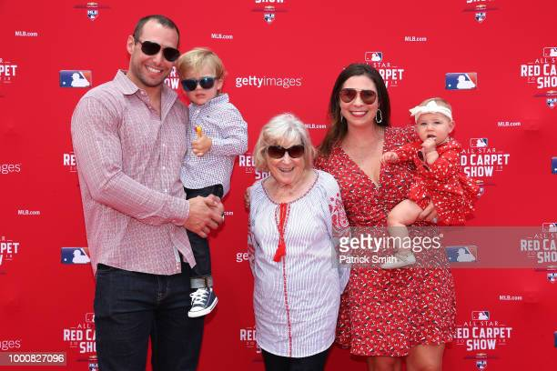 Paul Goldschmidt of the Arizona Diamondbacks and the National League and guests attend the 89th MLB AllStar Game presented by MasterCard red carpet...