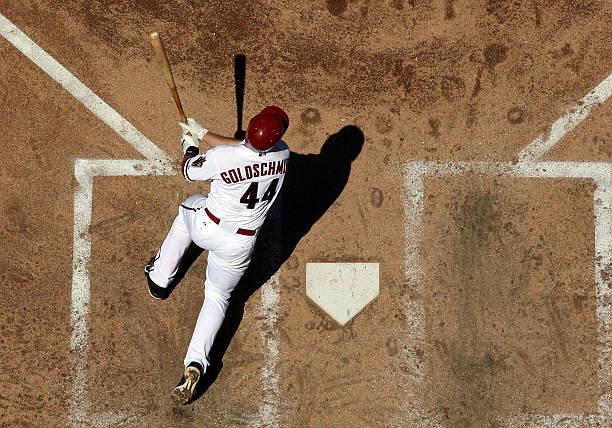 Paul Goldschmidt of the Arizona Diamondbacks bats against...