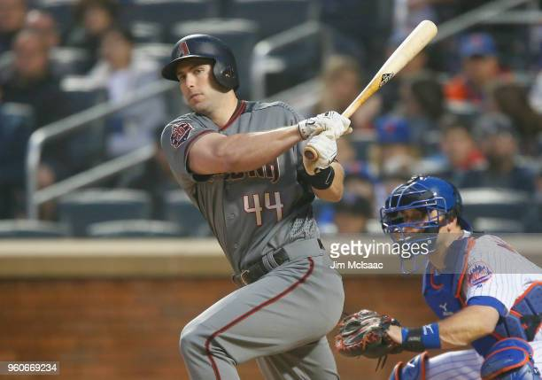 Paul Goldschmidt of the Arizona Diamondbacks in action against the New York Mets at Citi Field on May 19 2018 in the Flushing neighborhood of the...