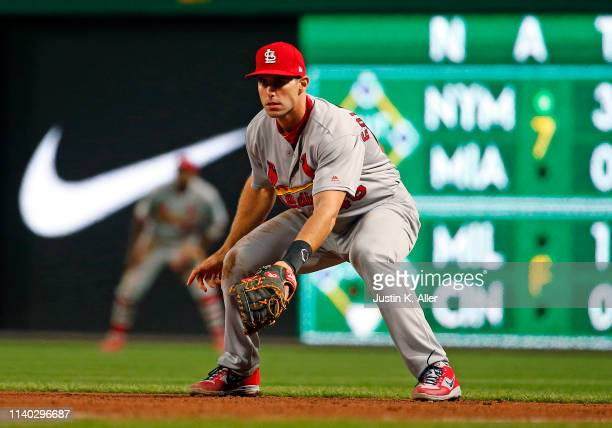 Paul Goldschmidt of the St Louis Cardinals in action against the Pittsburgh Pirates at PNC Park on April 3 2019 in Pittsburgh Pennsylvania