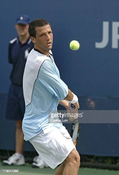 Paul Goldstein during his Match against Gustavo Kuerten during the first round of the 2005 US Open at the National Tennis Center in Flushing New York...
