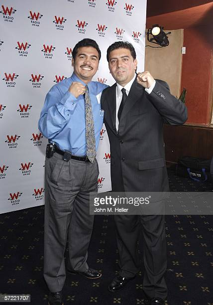 Paul Gonzales 1984 Gold Medal Winner Boxing and Fritz Zermeno at the Launch Party of W Radio at the Music Box at the Henry Fonda Theatre on March 30...