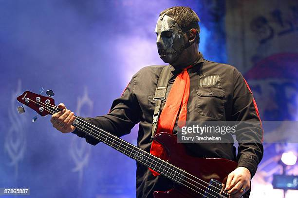 Paul Gray of Slipknot performs during the 2009 Rock On The Range festival at Columbus Crew Stadium on May 16 2009 in Columbus Ohio
