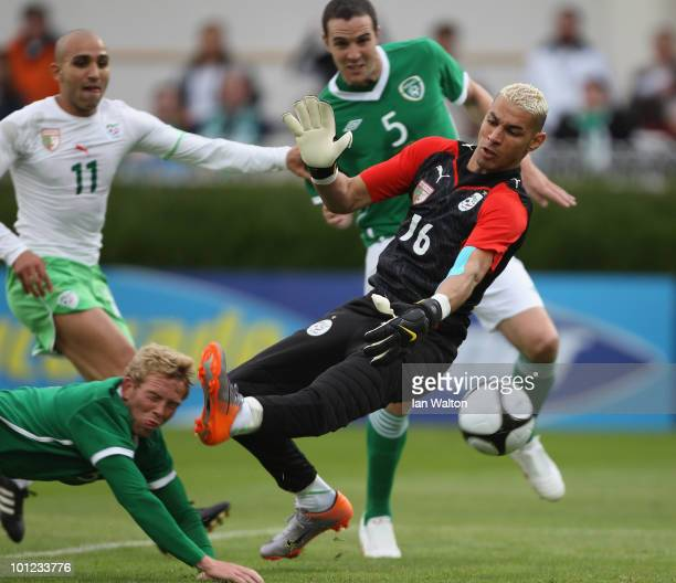 Paul Green of Republic of Ireland scores the first goal during the International Friendly match between Republic of Ireland and Algeria at the Royal...