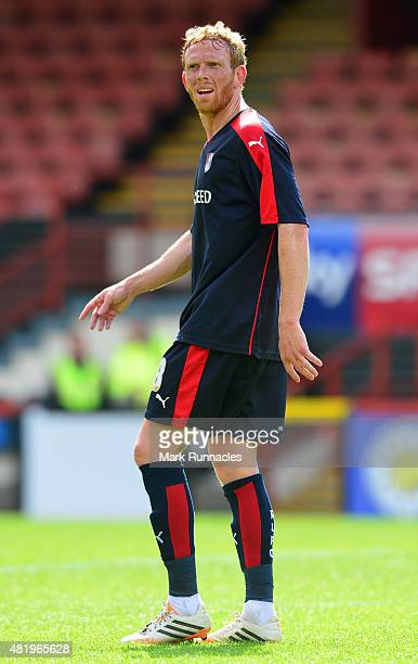Paul Green of Rotherham in action during a preseason friendly match between Patrick Thistle FC and Rotherham United at Firhill Stadium on July 25...