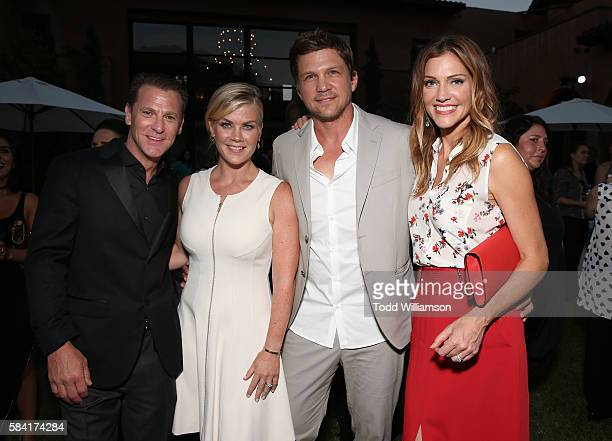 Paul Greene Alison Sweeney Marc Blucas and Tricia Helfer attend the Hallmark Channel And Hallmark Movies And Mysteries Summer 2016 TCA Press Tour...