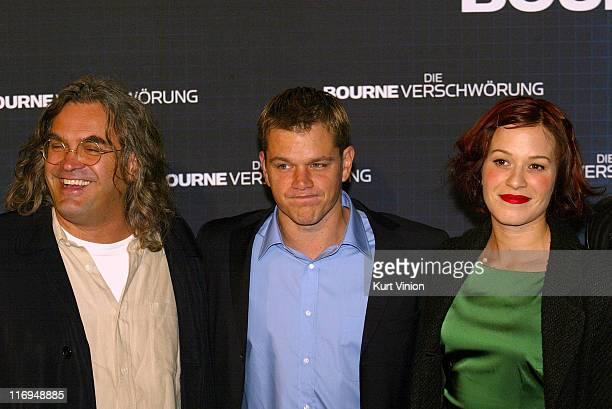 Paul Greengrass director Matt Damon and Franka Potente