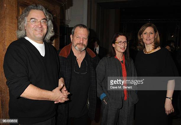 Paul Greengrass Terry Gilliam Maggie Weston and Sarah Brown attend the London Evening Standard British Film Awards 2010 at The London Film Museum on...