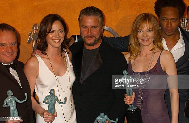 Paul Guilfoyle Jorja Fox William Petersen Marg Helgenberger and Gary Dourdan of 'CSI Crime Scene Investigation' winners for Outstanding Ensemble in a...