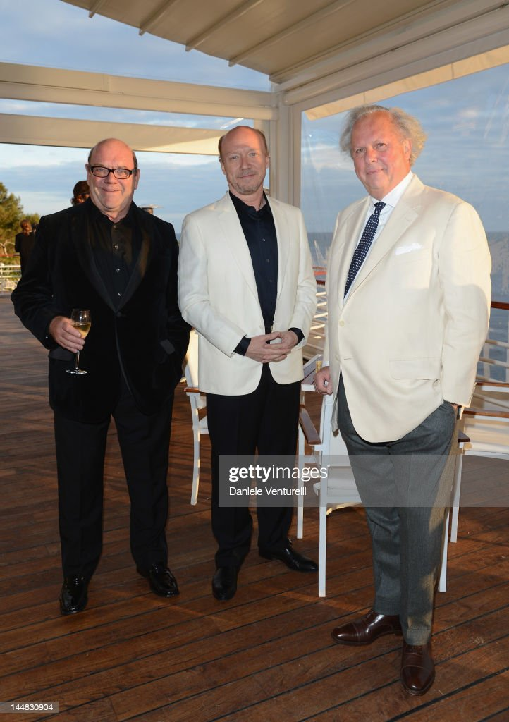Paul Haggis and Editor of Vanity Fair Graydon Carter attend the Vanity Fair and Gucci Party at Hotel Du Cap during 65th Annual Cannes Film Festival on May 19, 2012 in Antibes, France.