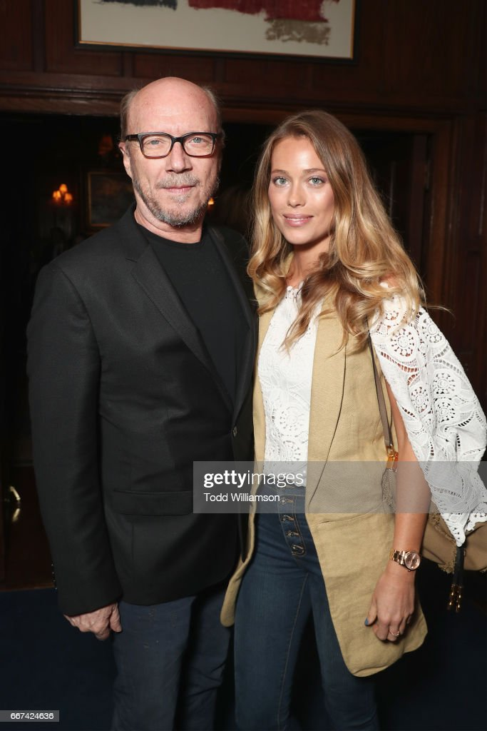 Paul Haggis (L) and Genevieve Barker attend the after party for Amazon Studios and Bleecker Street special screening with Explorer's Club of James Gray's THE LOST CITY OF Z on April 11, 2017 in New York City.