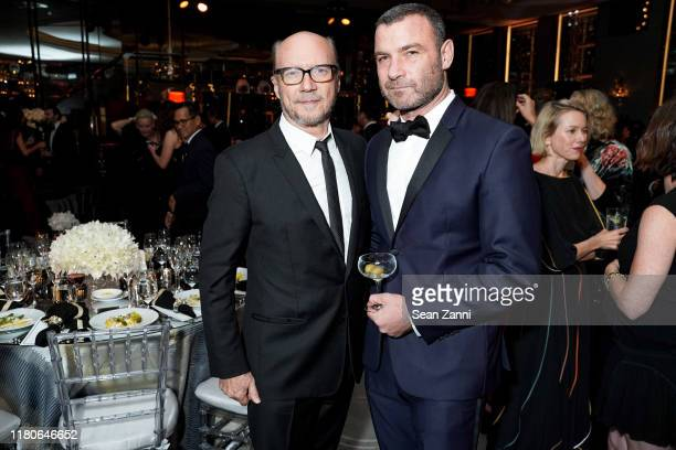 Paul Haggis and Liev Schreiber attend Kristy Hinze Clark 40th Birthday Celebration at The Rainbow Room on October 11 2019 in New York City