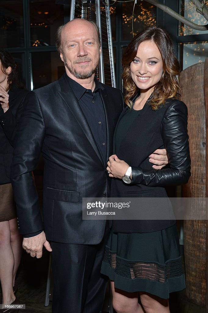 Paul Haggis and Olivia Wilde attend IWC and Tribeca Film Festival Celebrate 'For the Love of Cinema' on April 18, 2013 in New York City.