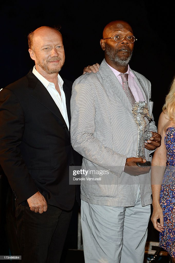 Paul Haggis and Samuel L. Jackson attend Day 2 of the 2013 Ischia Global Fest on July 14, 2013 in Ischia, Italy.