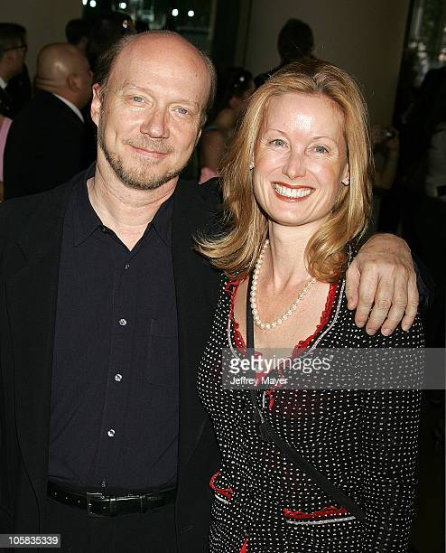 Paul Haggis and wife Deborah during The 78th Annual Academy Awards Nominees Luncheon Outside Arrivals at Beverly Hilton Hotel in Beverly Hills...
