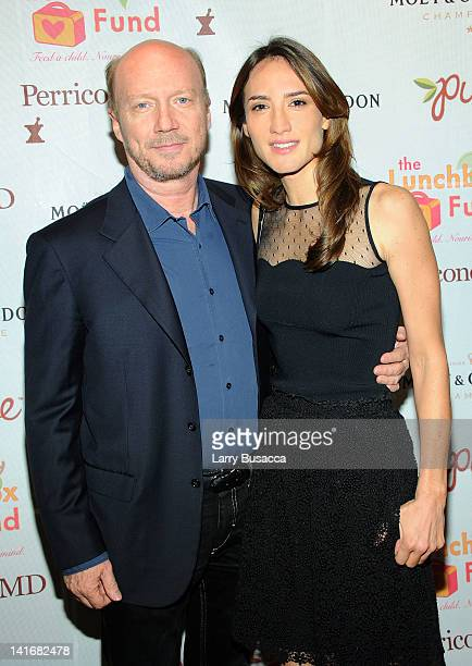 Paul Haggis and Zani Gugelman attend the 2012 Lunchbox Fund Bookfair auction at Del Posto on March 21 2012 in New York City