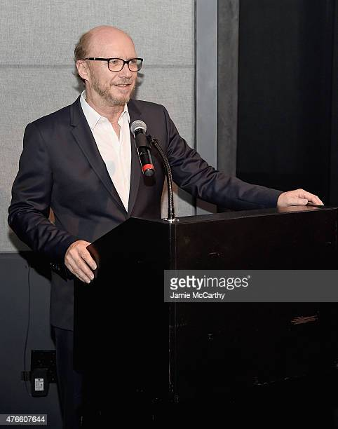Paul Haggis attends the Princess Grace FoundationUSA NY Special Summer 2015 Screening of REAR WINDOW at The Academy Theater on June 10 2015 in New...