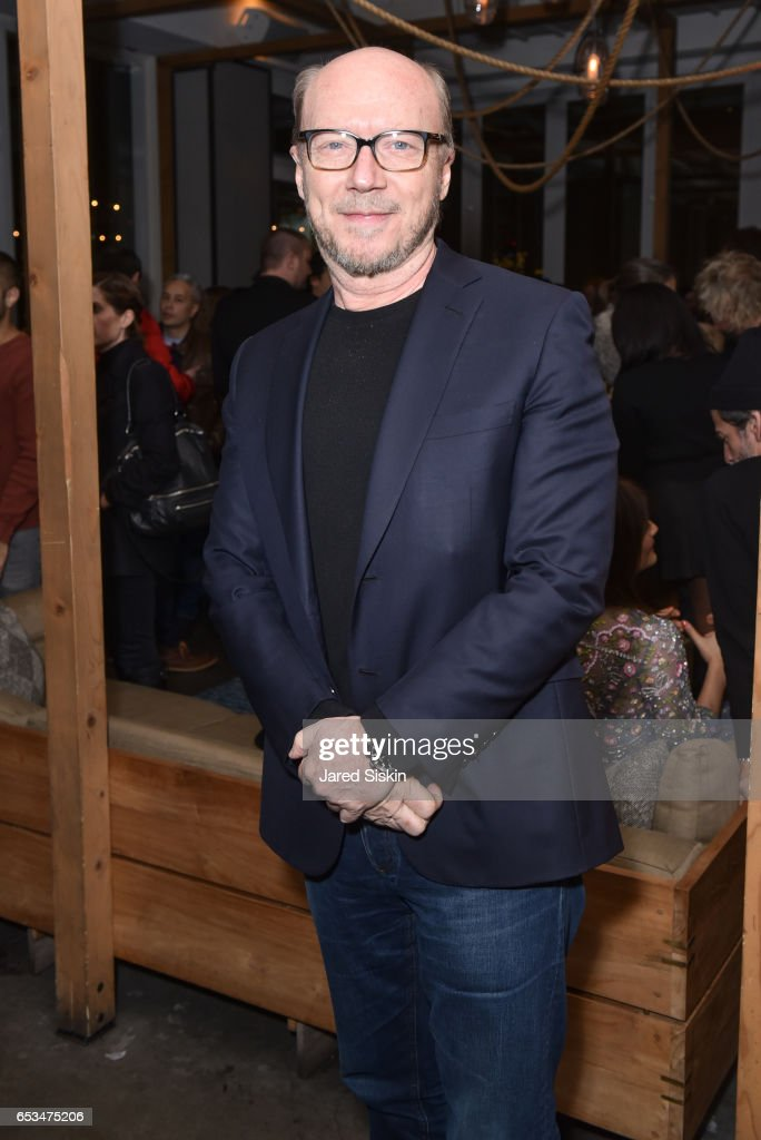 Paul Haggis attends TriStar Pictures & The Cinema Society with 19 Crimes Host the After Party for 'T2 Trainspotting' at Mr. Purple at the Hotel Indigo LES on March 14, 2017 in New York City.