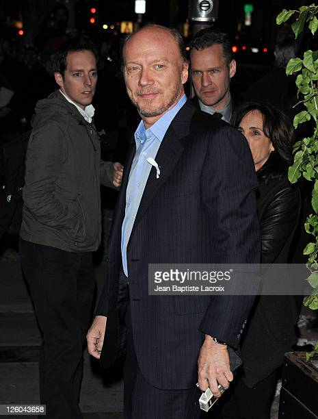 Paul Haggis is sighted attending the Chanel and Charles Finch preOscar party celebrating fashion and film at Madeo restaurant on February 26 2011 in...