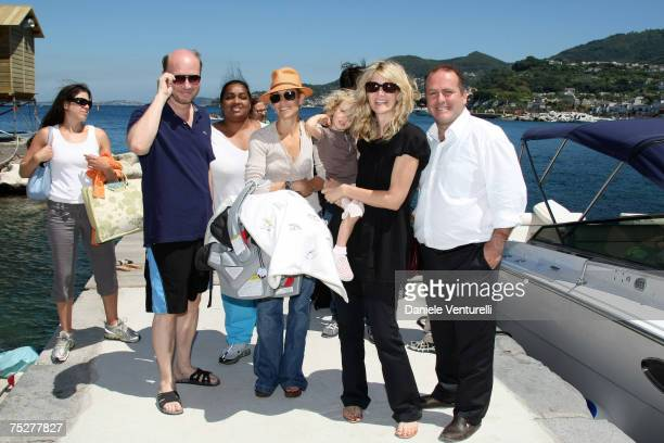 Paul Haggis Sheryl Crow Laura Dern and Pascal Vicedomini attend the Film and Musicischia Global Fest on July 8 2007 in Ischia Italy