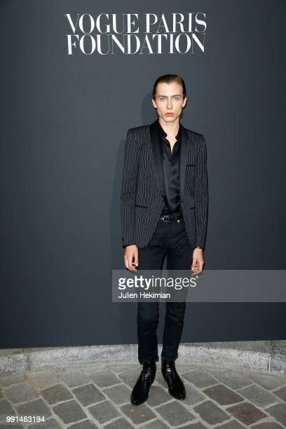 Paul Hameline attends Vogue Foundation Dinner Photocall as part of Paris Fashion Week Haute Couture Fall/Winter 20182019 at Musee Galliera on July 3...