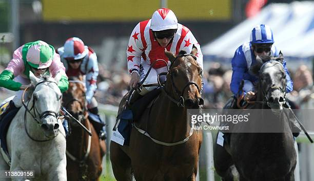 Paul Hanagan riding Glen's Diamond win The Addleshaw Goddard Dee Stakes at Chester racecourse on May 06 2011 in Chester England