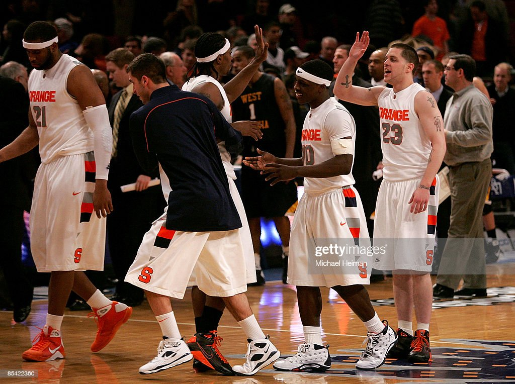 Paul Harris Jonny Flynn And Eric Devendorf Of The Syracuse