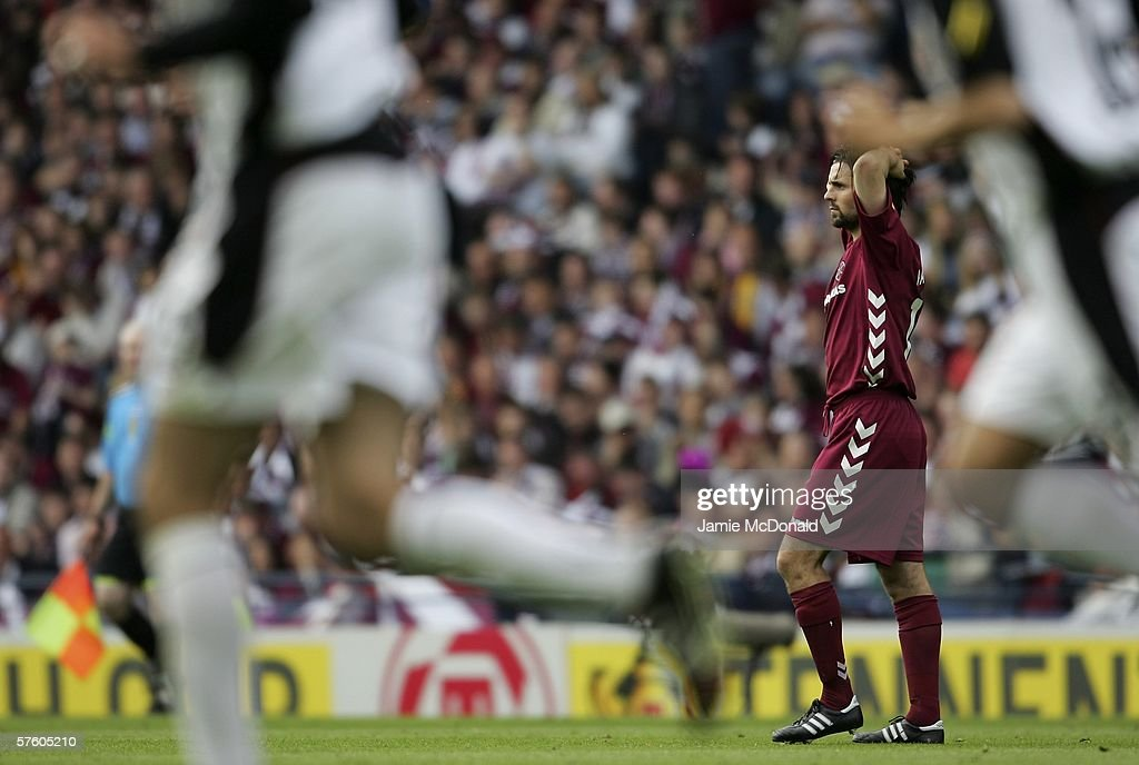 Paul Hartley is sent off during the Tennents Scottish Cup Final between Heart of Midlothian and Gretna at Hampden Park on May 13 2006, in Glasgow, Scotland.