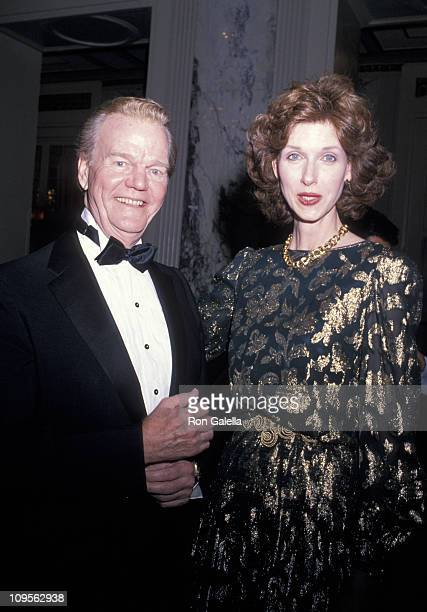 Paul Harvey and guest during International Radio Television Social March 2 1989 at Waldorf=Astoria in New York New York United States
