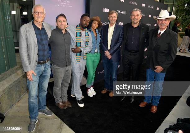 Paul Hawken Bren Smith Ietef Vita Alkemia Earth Thom Hartmann Martin Hermann and Don Schreiber attend the LA Premiere of HBO's 'Ice On Fire' at LACMA...