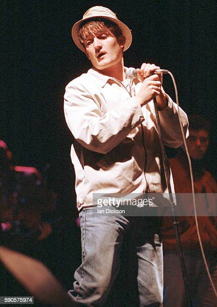 Paul Heaton of the Beautiful South performing on stage at Brixton Academy, London 20 April 1992.