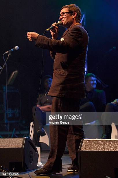 Paul Heaton performs on stage at Salford Lowry on July 6, 2012 in Manchester, United Kingdom.
