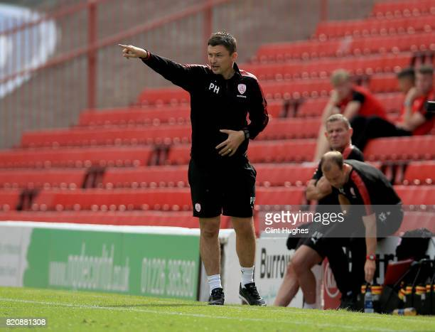 Paul Heckingbottom manager of Barnsley during the pre season friendly against Huddersfield Town at Oakwell Stadium on July 22 2017 in Barnsley England