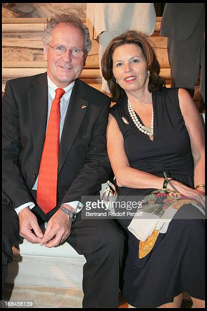 Paul Helminger, Mayor of Luxembourg, and his wife at Nana Mouskouri's Farewell Concert At Odeon Herodes Atticus In Athens.