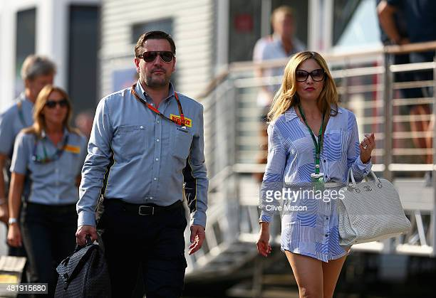 Paul Hembery motorsport director of Pirelli walks in the paddock after qualifying for the Formula One Grand Prix of Hungary at Hungaroring on July 25...