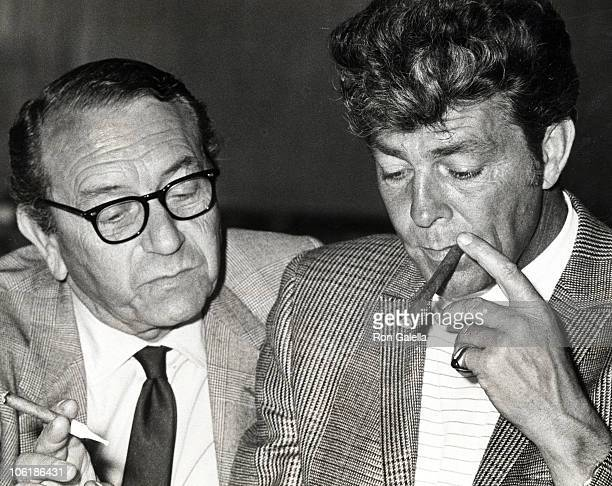 Paul Henreid and Dale Robertson during Rehearsal for Wonderful World Cotillion Trophy Ball at Beverly Hilton Hotel in Beverly Hills California United...