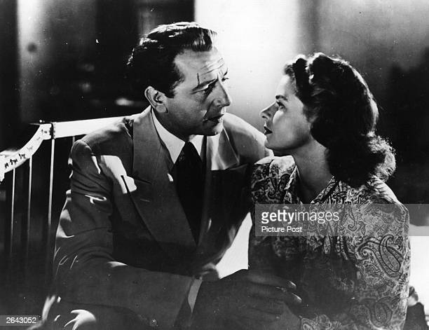 Paul Henreid and Ingrid Bergman in a scene from the film 'Casablanca', directed by Michael Curtiz for Warner Brothers. Original Publication: Picture...
