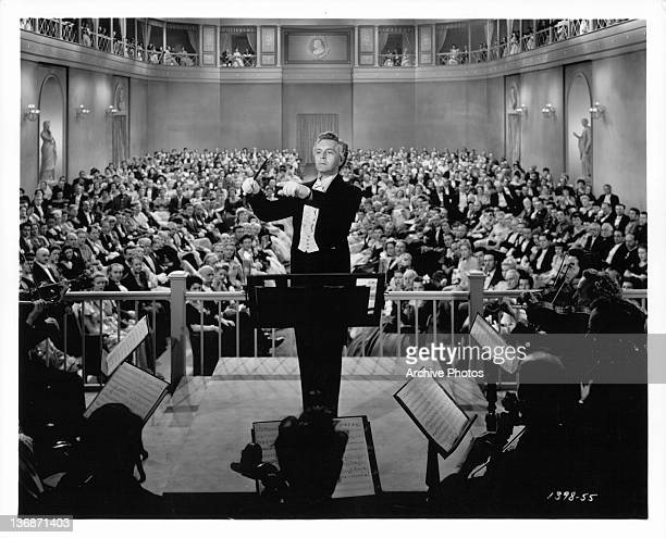 Paul Henreid conducts orchestra in a scene from the film 'Song Of Love' 1947