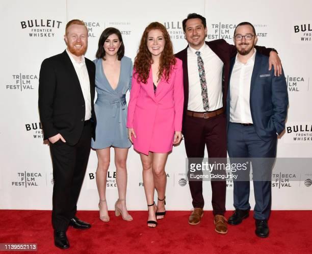 Paul Heran Bryce Hymans Haley Finnegan Brian Flynn and Montana Loran attend the Westfalia Premiere 2019 Tribeca Film Festival at Regal Cinema Battery...