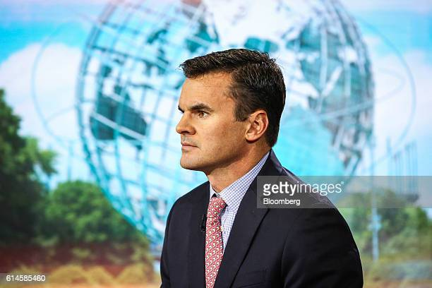 Paul Hickey cofounder at Bespoke Investment Group LLC listens during a Bloomberg Television interview in New York US on Friday Oct 14 2016 Hickey...