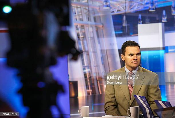 Paul Hickey cofounder of Bespoke Investment Group LLC listens during a Bloomberg Television interview in New York US on Thursday May 26 2016 Hickey...