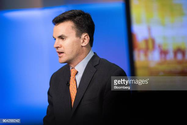 Paul Hickey cofounder of Bespoke Investment Group LLC speaks during a Bloomberg Television interview in New York US on Friday Jan 12 2018 Hickey...