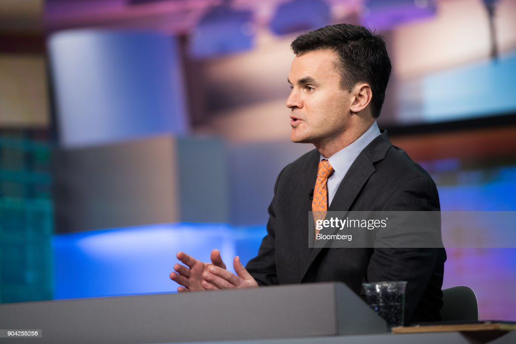Paul Hickey, co-founder of Bespoke Investment Group LLC, speaks during a Bloomberg Television interview in New York, U.S., on Friday, Jan. 12, 2018. Hickey spoke about big bank earns. Photographer: Mark Kauzlarich/Bloomberg via Getty Images