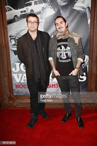 Paul Hicks DJ/musician Dhani Harrison arrive at the John Varvatos Rock In Fashion book launch celebration held at John Varvatos Los Angeles on...