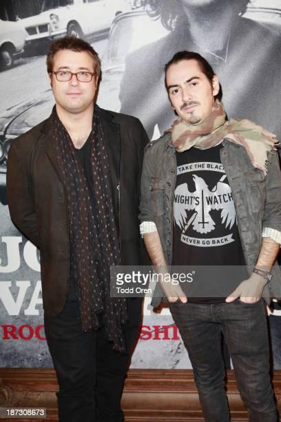 "Paul Hicks ; DJ/musician Dhani Harrison arrive to the ""John Varvatos: Rock In Fashion book launch celebration held at John Varvatos Los Angeles on..."