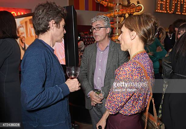 Paul Higgins Matthew Byam Shaw and Amelia Bullmore attend a special screening of The Donmar Warehouse production of 'The Vote' at the Ham Yard Hotel...