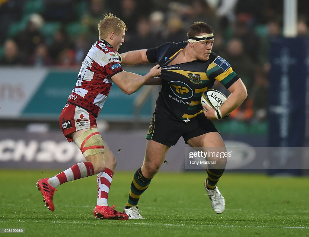 Northampton Saints v Gloucester Rugby - Anglo-Welsh Cup : News Photo